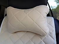 Автомобильная подушка на подголовник (цвет бежевый). Автоподушки AVторитет