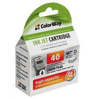 Картридж ColorWay Canon PG-40 black, ink level (CW-CPG40-I)