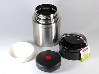Термос для еды Kamille 600 мл (ДЕРЖИТ до 10 ч!) из нержавеющей стали, пищевой термос для первых и вторых блюд