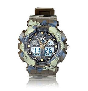 Часы спортивные цифровые влагозащитные (хаки) XINJIA , фото 2
