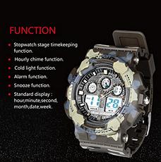 Часы спортивные цифровые влагозащитные (хаки) XINJIA , фото 3