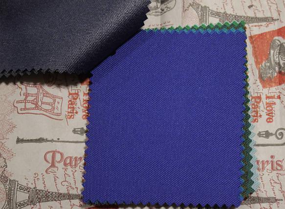 Ткань оксфорд 600d PU (полиуретан) синий электрик, фото 2