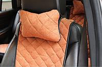 Автомобильная подушка на подголовник (цвет коричневый). Автоподушки AVторитет, фото 1