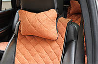 Автоподушка подголовник коричневая