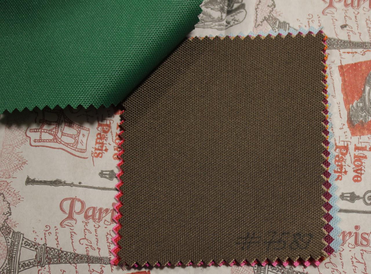 Ткань оксфорд 600d PU (полиуретан) темно-коричневый
