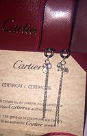 Серьги Cartier (Картье) висюльки