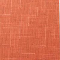 Рулонные шторы Ткань Лён 860 Красно-оранжевый