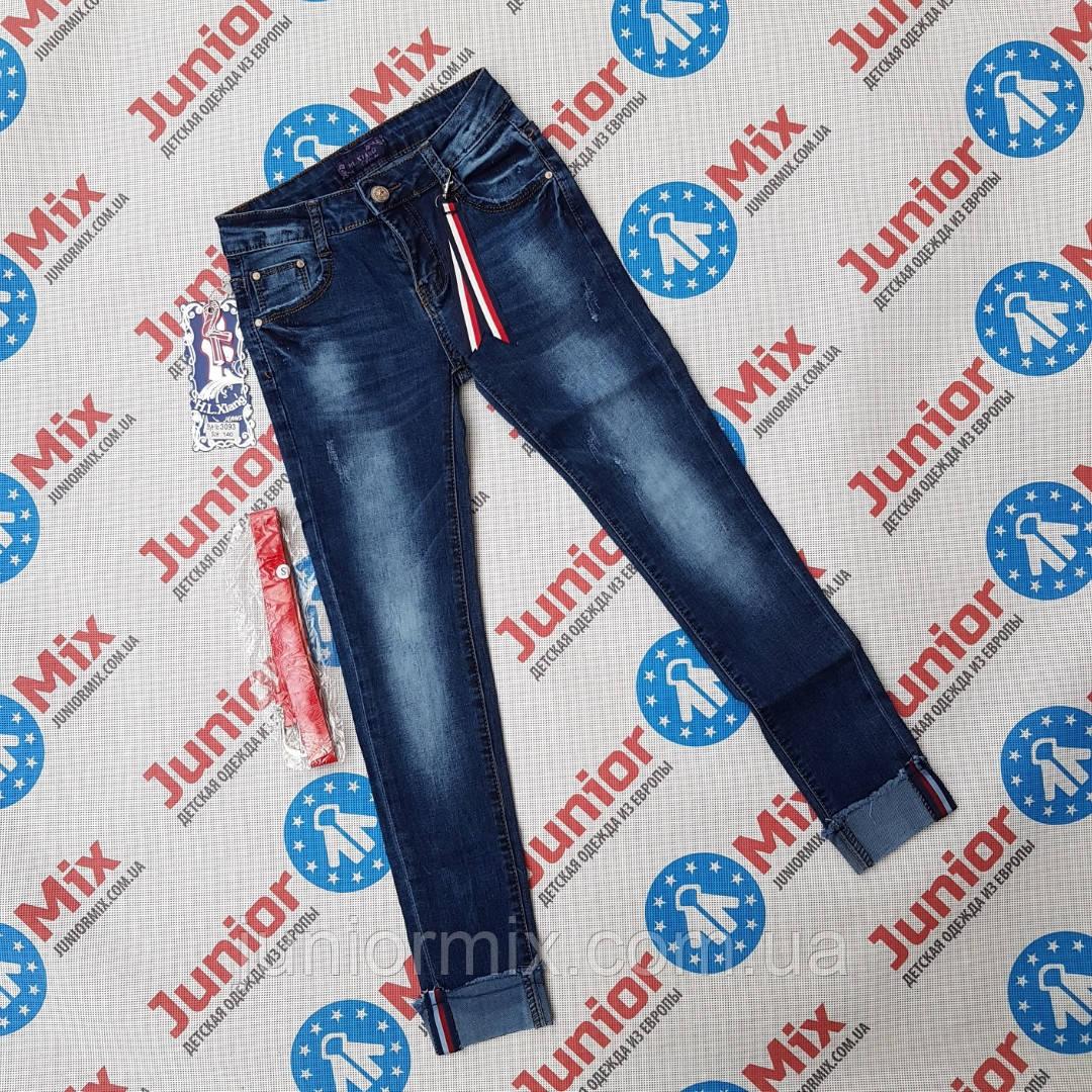 Оптом подростковые джинсы для девочек с подворотом  H&L