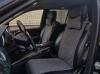 Накидки на автомобильные сиденья AVторитет (передний комплект, СТАНДАРТ, темно-серые). Авточехлы
