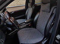 Накидки на сиденья темно-серые. Передний комплект. ШИРОКИЕ. Авточехлы