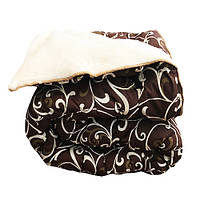 Одеяло полуторное холлофайбер, ткань поплин, мех