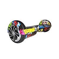 Smart Balance Wheel 6,5 Граффити желтый +Mobile APP