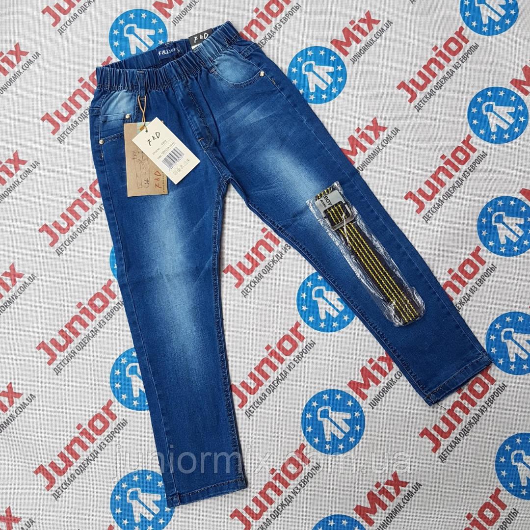 Оптом детские джинсы для мальчиков на резинке F&D