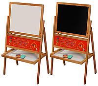Детский Мольберт Дошкольный Доска для рисования. В комплекте: мелки, губка. F15