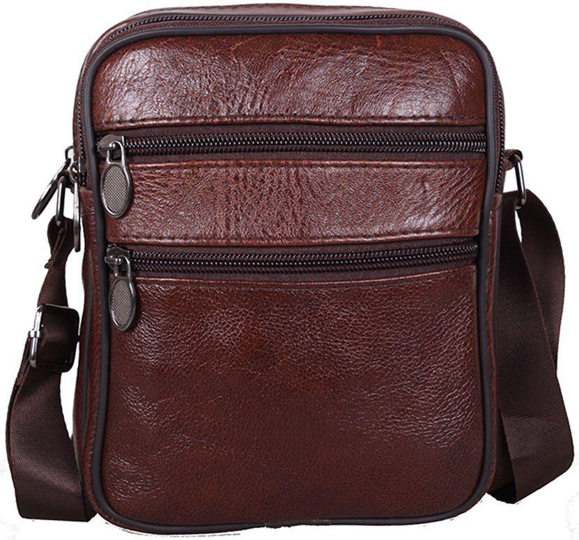 99ac8aeb16ce Мужская кожаная наплечная сумка Bon-2366 Brown коричневая - SUPERSUMKA  интернет магазин в Киеве