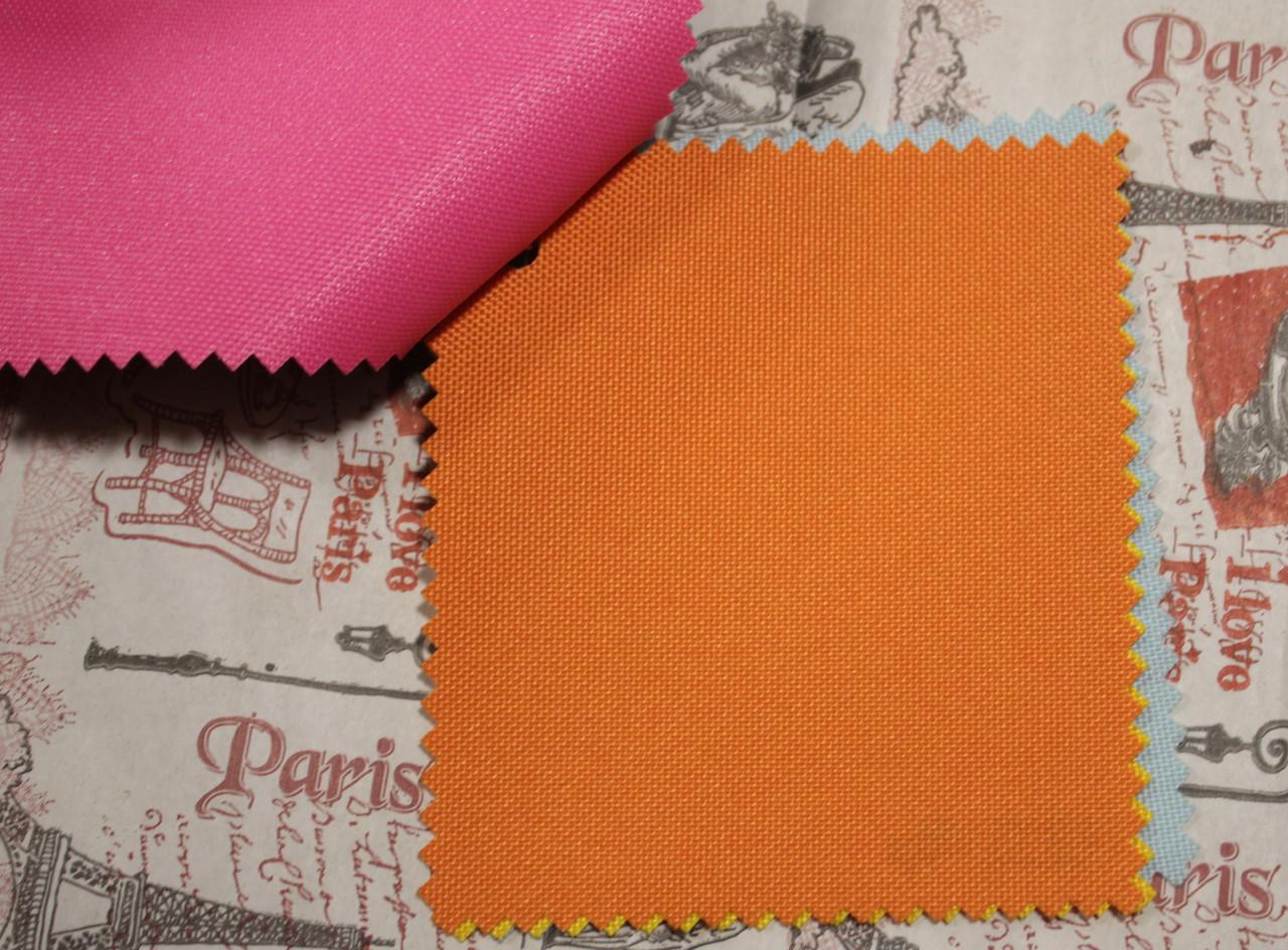 Ткань оксфорд 600d PU (полиуретан) оранжевый