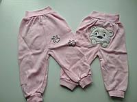 Розовые штанишки для девочки
