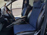 Накидки на автомобильные сиденья AVторитет (передний комплект, СТАНДАРТ, темно-синие). Авточехлы