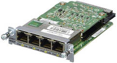 Модуль Cisco Four port 10/100/1000 Ethernet switch interface card