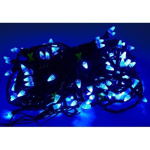 Гірлянда-Лінза Конус світлодіодна блакитна 200 LED 9,25 м новорічна гірлянда на ялинку