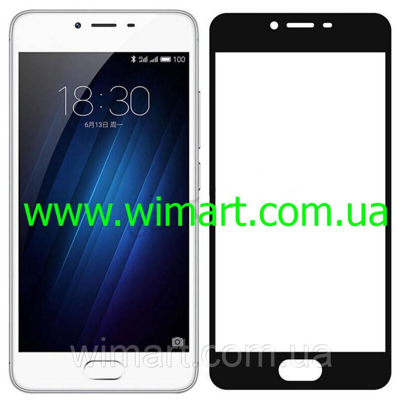 Защитное стекло Meizu M5S Full Screen Protector Black.