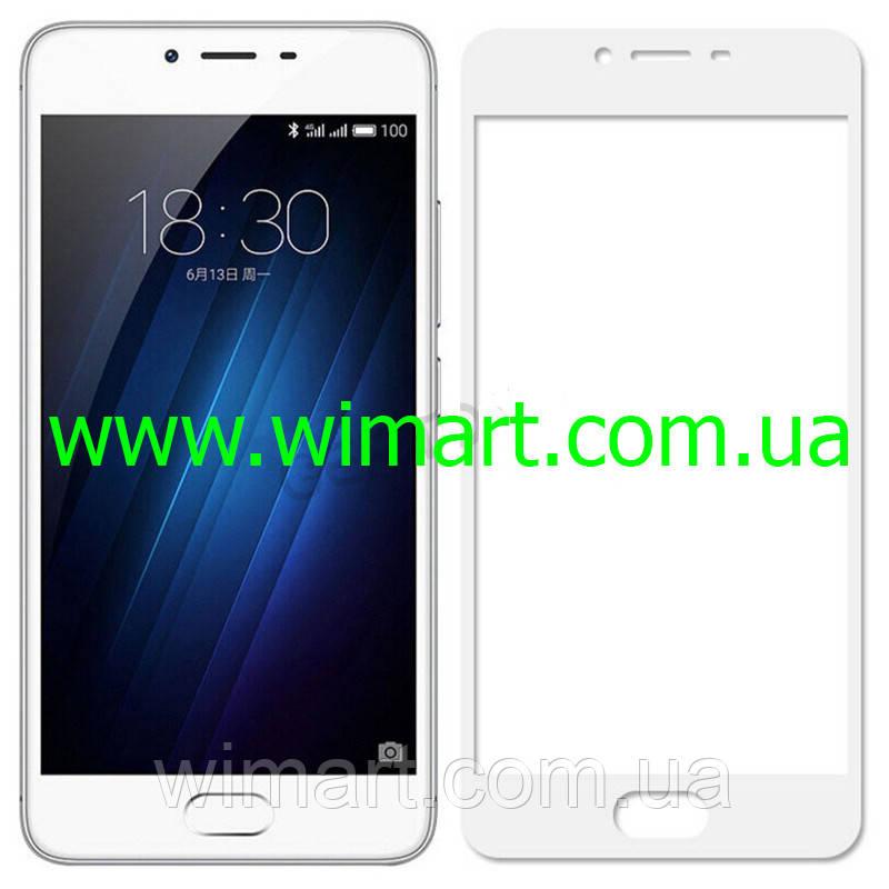 Защитное стекло Meizu M5 Full Screen Protector Белый.