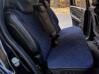 Чехлы на автомобильные сиденья AVторитет (задний комплект, темно-синий). Авточехлы