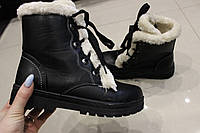 Зимние женские ботинки на молнии размер 36