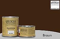 Стандолевая масляная краска жирная, верхний слой / Standölfarbe braun, коричневая  0,75 l , фото 1