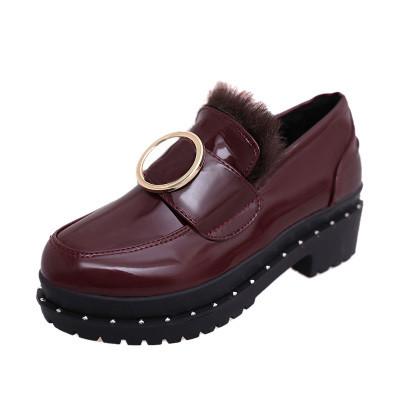Туфли закрытые с мехом внутри