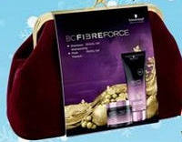 Набор косметики для волос BC Fibre Force  (шампунь 200ml + маска 150ml + косметичка клатч)