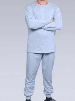 Комплект белья мужской серый светлый нижнее белье начесное хлопковое Украина