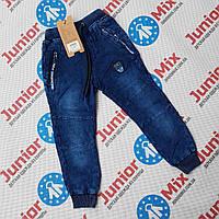 Котоновые брюки для мальчиков на манжетах оптом GRACE