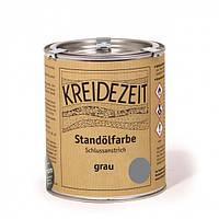 Стандолевая масляная краска жирная, верхний слой / Standölfarbe grau, серая 0,75 l