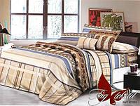 Постель полуторная, постельное недорогое, комплект полуторный, ткань поликоттон, XHY1370