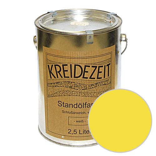 Стандолевая масляная краска полужирная / нижний слой / Standölfarbe Zwischenanstrich gelb, желтая  0,75 l