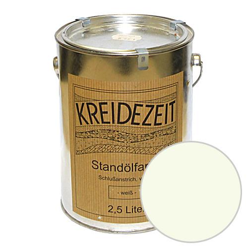Стандолевая масляная краска полужирная / нижний слой / Standölfarbe Zwischenanstrich Weiß, белая  0,75 l