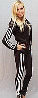 Женский спортивный костюм темно-коричневый