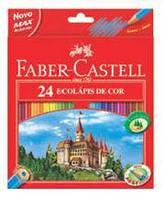 Цветные карандаши 24цв.+точилка арт.120124 Faber Castell