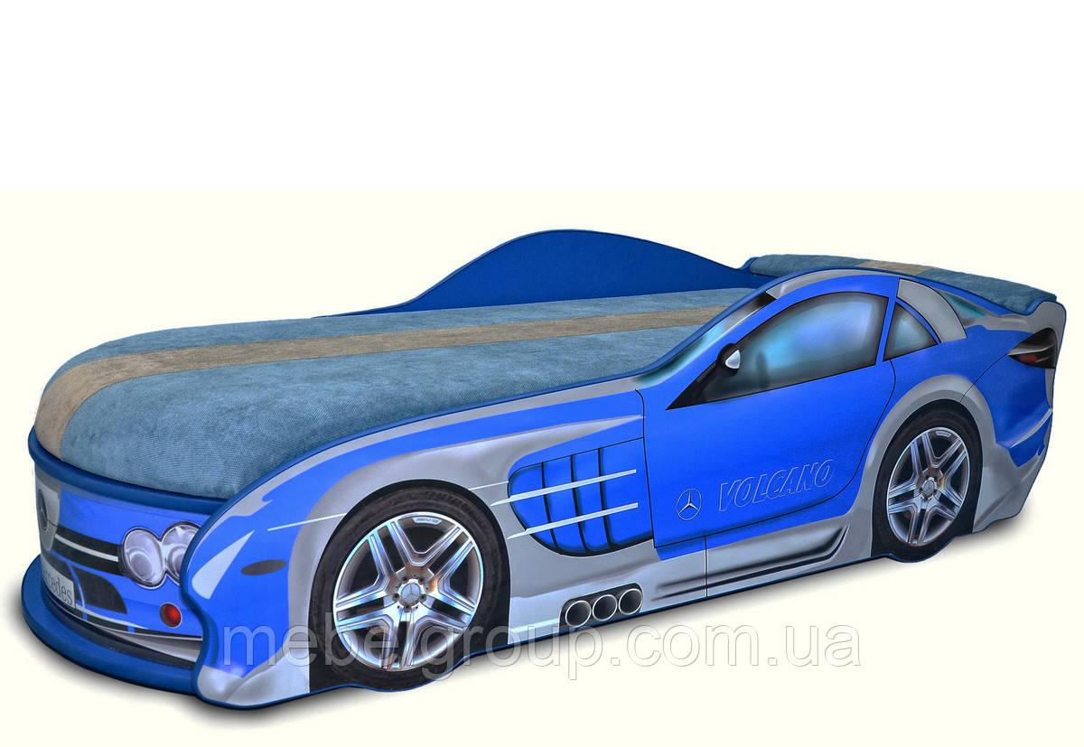 Кровать Мерседес синий