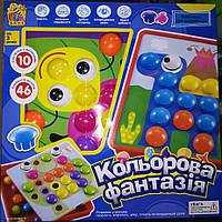 Мозаика 7033 10 платформ с рисунками, 46 элементов, коробке FUN GAME