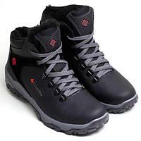 Кожанные мужские зимние ботинки  Columbia коламбия 44