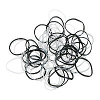 Гумки для кісок силікон 100шт. туба чорно-білі