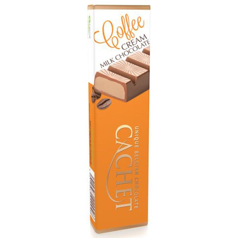 Шоколадный батончик Cachet  молочный с кофейным кремом 75г Бельгия