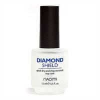 """Быстросохнущий закрепитель """"Алмазный блеск"""" Diamond Shield 15 мл. NAOMI"""