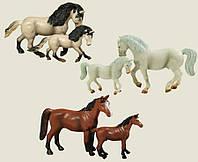 Лошади 9512A-C (72шт/2) 3 вида,  2 шт в коробке 19*19*12 см.