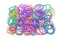 Резинки для косичек силикон 100шт. туба цветные
