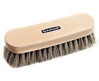 Щетка для обуви Saphir Natural Horsehair Brush, натуральный конский волос, колодка - бук, 21см
