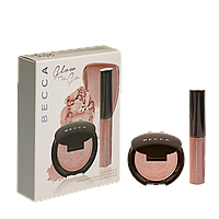 Набор хайлайтеров Пудра+Крем-перфектор Becca Glow on The Go Rose Gold