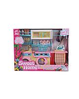 Мебель для куклы 2802S  свет/звук,  для ванной, стиралка, умывальник, утюг, доска, шкафы, аксесс, в коробке 37*29*12